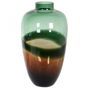 Vase Dark Green & Black Tall