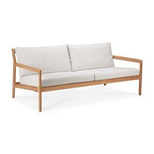 Teak Jack Two Seater Outdoor Sofa - Off White