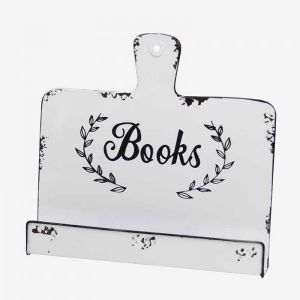 White Metal Cook Book Stand