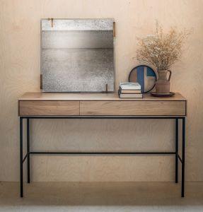 Oak Whitebird Desk 2DRW