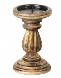 Wood Natural Candle Holder