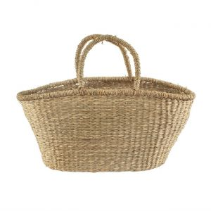 Woven Seagrass Shopper Basket